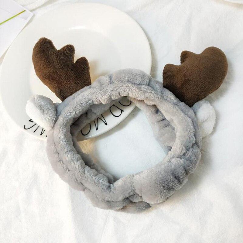 Новый рога оленя для волос группа Корейская версия милый Рождественский рога оголовье мыть макияж аксессуары для волос