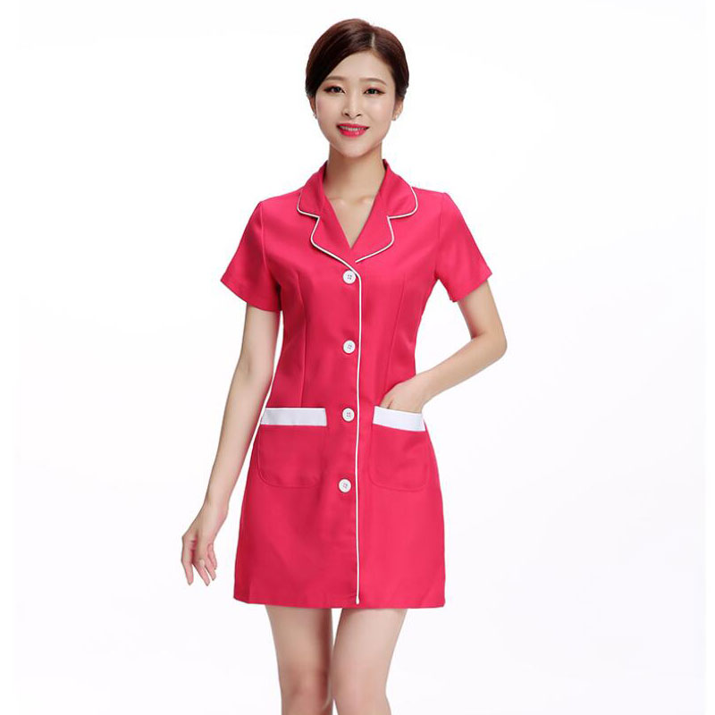 2020 New Work Clothes For Nurse Uniform Beautician Overalls Medical Clothing Beautician Dress Beauty Salon Uniforms