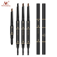 Air Cushion Triad Eyebrow Pencil Waterproof Longlasting Triangle Natural Make Up Eye Brow Liner With Brush Makeup Tools 3in1(China)