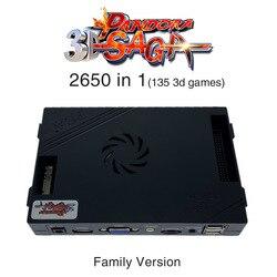 3D Pandora Saga Box 2650 в 1 семейная версия платы 40p аркадная плата для Бесплатной Игры монета HD видео Jamma игры HDMI VGA материнская плата