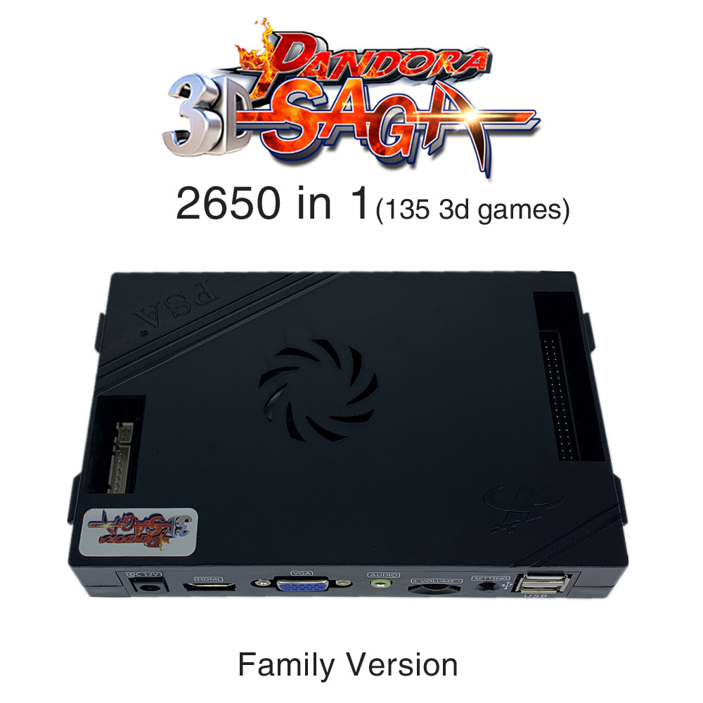 3D Pandora Saga Box 2650 In 1 Family-Version Board 40p Arcade PCB For Free Play Coin HD Video Jamma Games HDMI VGA Motherboard