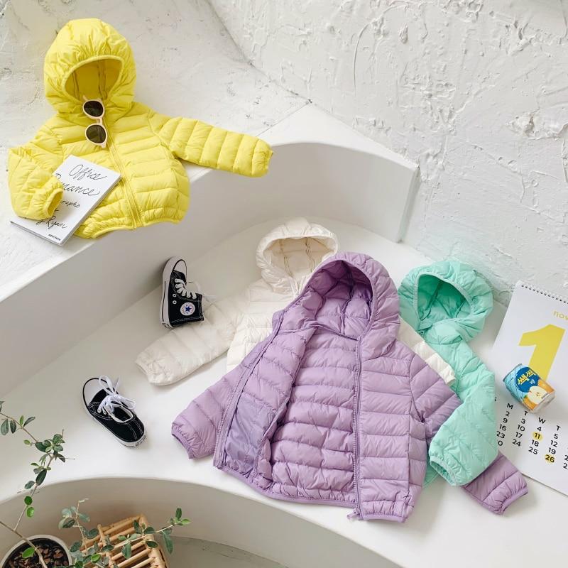 Children Lightweight Down Jackets Short Boys Girls Middle and Small Kids Baby Infant Children's Wear Winter Outerwear