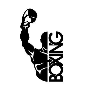 9CM*15CM Boxing Gloves Combat Decor Car Stickers KK Vinyl High Quality Decals Accessories
