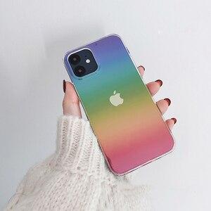 Image 2 - Dla iphone 12 12Pro Max przezroczysty laser odporny na wstrząsy etui dla iphone 11 11pro X XR XS Max 7 8Plus SE twardy akryl skrzynki pokrywa