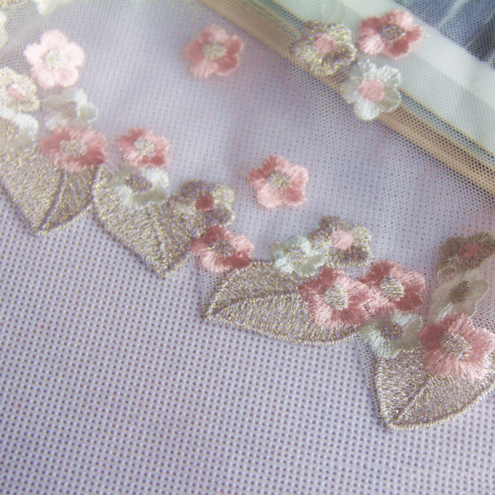 Width 21cm Pink Flower Gold Leaves Hollow Floral Wedding Embroidery Quality Lace Fabrics Embroidered Lace DIY Handmade Patchwork