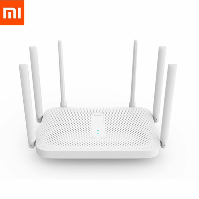 Xiaomi Redmi AC2100 Router Gigabit 2.4G 5.0G Dual-Band 2033Mbps 6 High Gain Antennas Wider 128M Wireless Router Wifi Repeater(China)