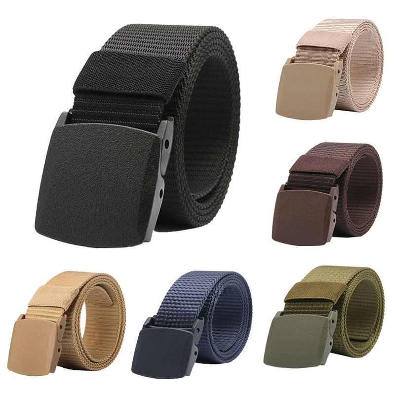 New High Quality Belt Tactical Fashion Adjustable Women Outdoor Belt Waist Solid Fit Survival Men Nylon Belts