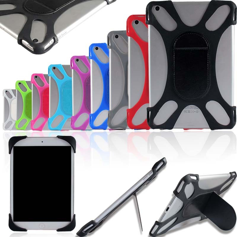 KK&LL For Apple iPad <font><b>1</b></font> 2 3 <font><b>4</b></font> / Air 3 2019 / PRO <font><b>10</b></font>.5 Pro 11 2018 - Tablet Shockproof Silicone Stand Cover Case + Stylus image