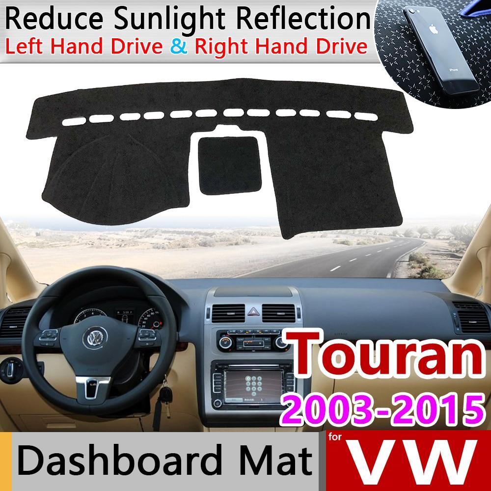 for Volkswagen VW Touran MK1 2003 2015 Anti-Slip Mat Dashboard Cover Pad Sunshade Dashmat Accessories 2004 2005 2010 2011 2012