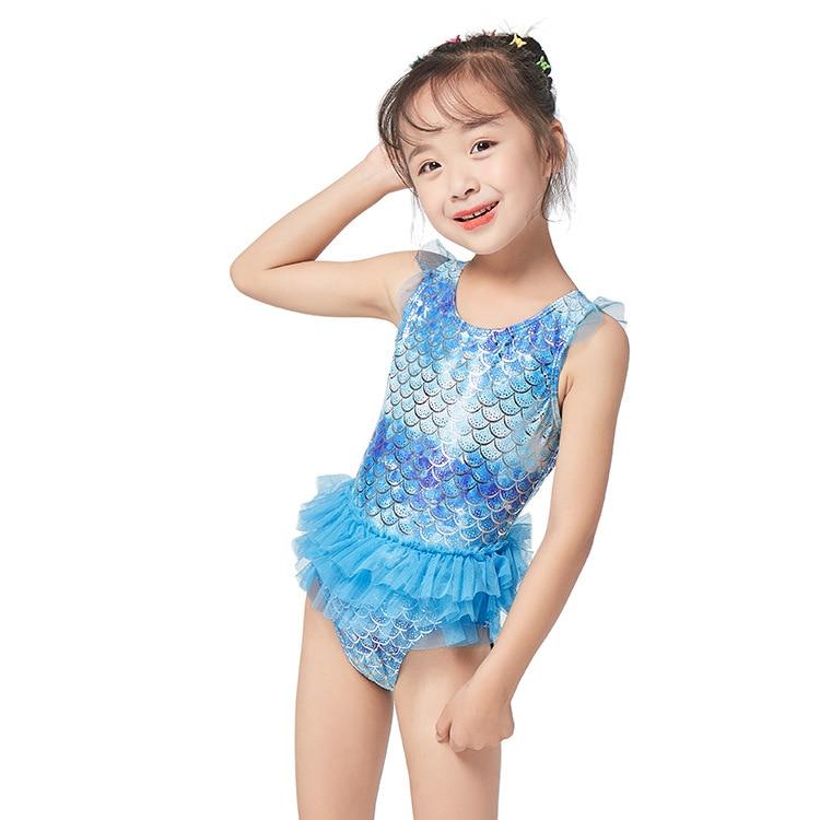 2019 New Style Children Bathing Suit Skirt Cute GIRL'S One-piece Swimsuit Mermaid Swimwear One-piece Swimming Suit Bathing Suit
