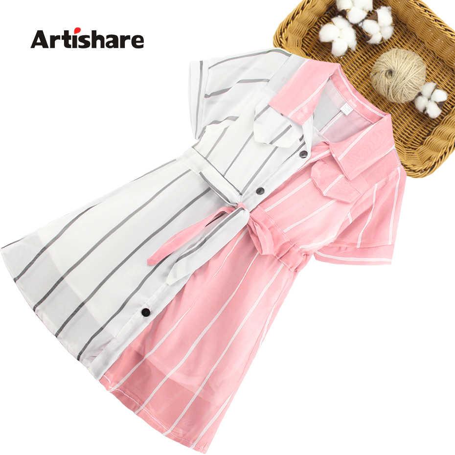 Vestido para meninas, vestido para meninas listrado blusa vestido para meninas vestidos infantis patchwork para meninas roupas escolares bonitos para meninas 6 8 10 12 14 anos