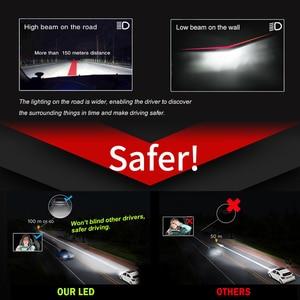 Image 4 - BraveWAY רכב אורות H4 LED H7 16000LM H1 H3 H8 H11 LED Atuo מנורה לרכב פנס נורות HB3 HB4 9005 9006 טורבו LED נורות 12V לדים לרכב