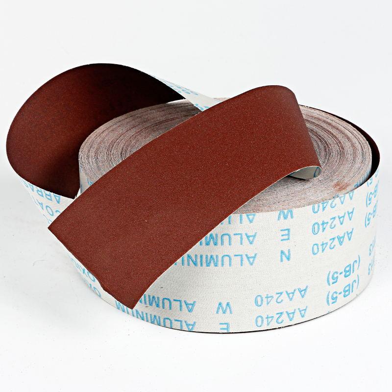 1Meter Woodworking Polished Gauze Roll Shredded Sandpaper 100mm Furniture Metal Sanding Cloth #80/120/150/180/240/320/400/600