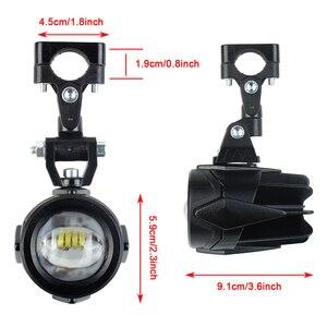 Image 2 - Motocykl przeciwmgielne światła dla BMW R1200GS ADV F800GS F700GS F650GS K1600 światło pomocnicze LED światła przeciwmgielnego montaż lampa do jazdy 40W