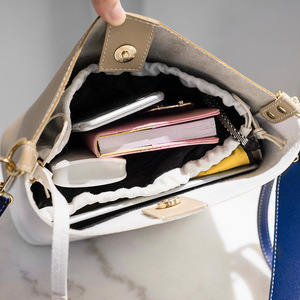 Image 5 - Hit Color Bucket Type Single Fashion Shoulder Package 2019 Luxury Ladies Messenger Bag All Match Shoulder Satchel Portable Woman
