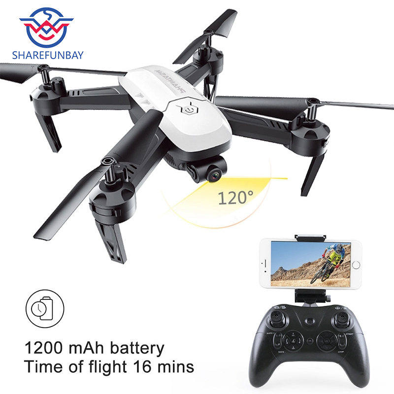 Rc drone T6 air pressure fixed high HD WiFi aerial photography four-axis aircraft one-button return to helicopter