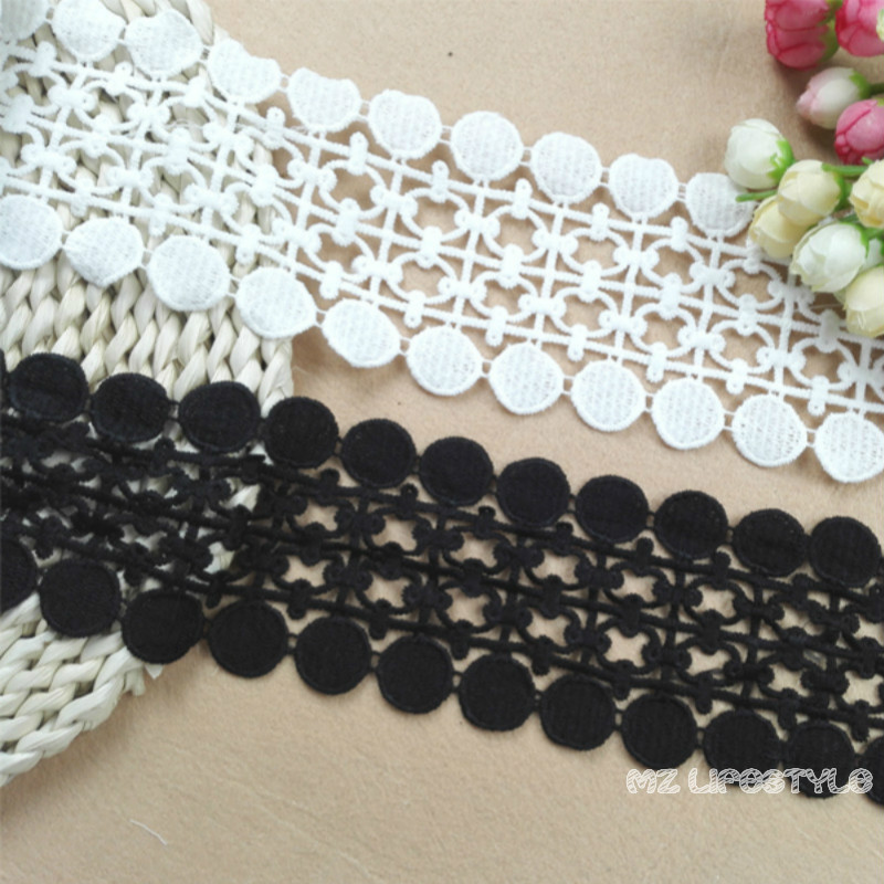 Bilateral Symmetrical Water Soluble Lace Trim Accessories DIY Handmade Material Clothing Decoration