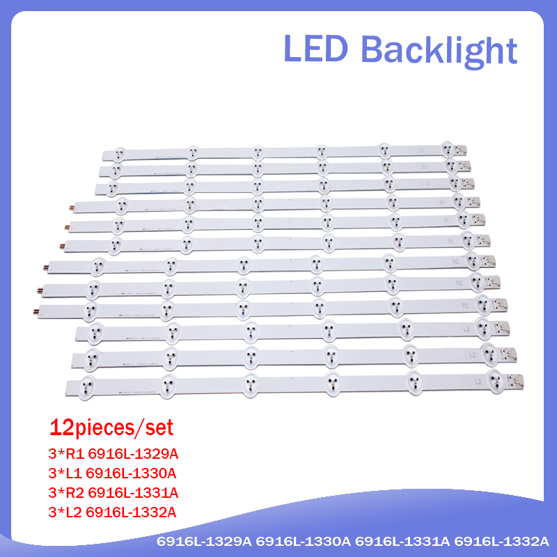 1 Set=12 Pieces LC550DUN LED Strip 55