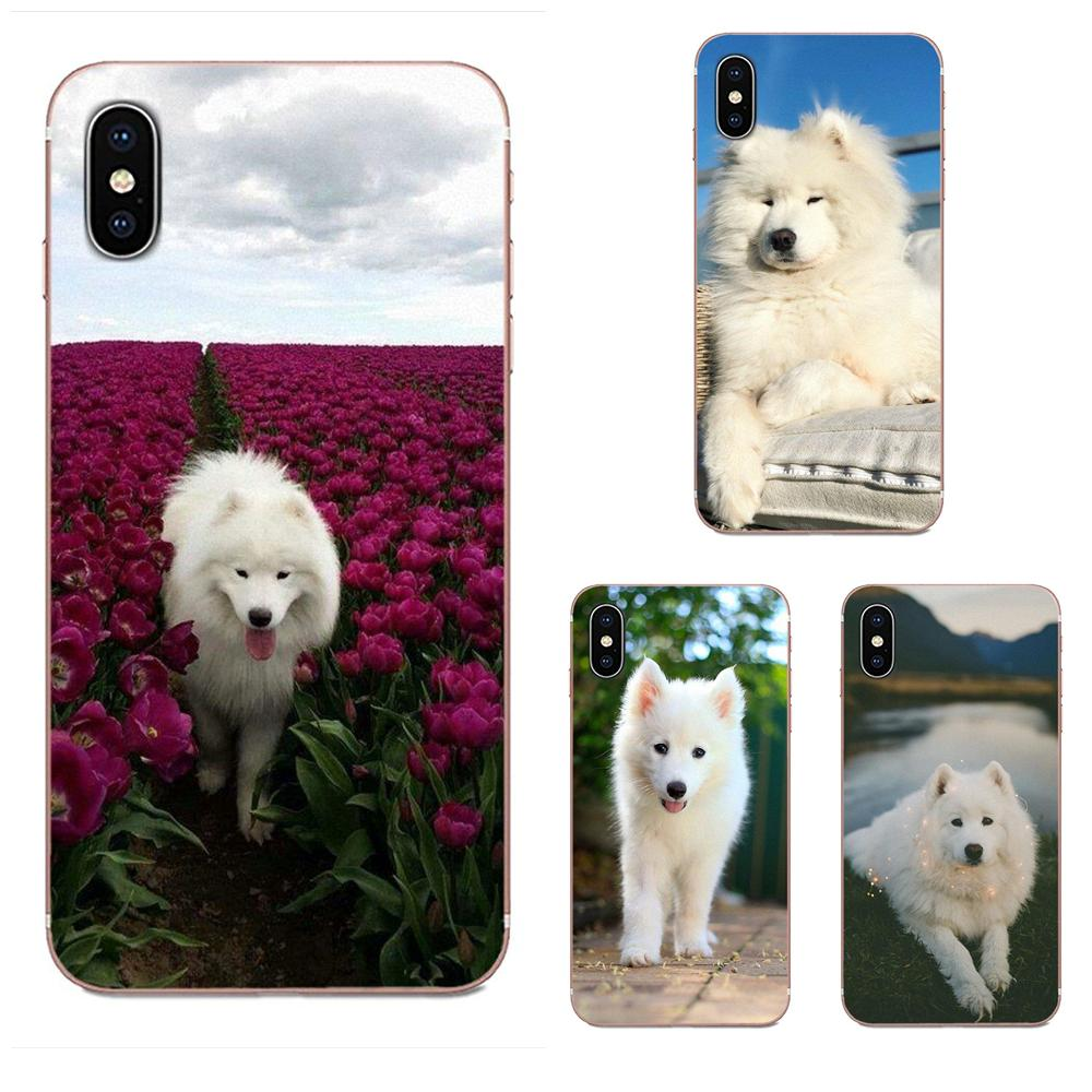 <font><b>White</b></font> Samoyed Dog Lovely Soft Silicone Phone <font><b>Case</b></font> Cover For <font><b>Samsung</b></font> Galaxy A51 A71 A81 A90 5G A91 A01 S11 S11E S20 Plus Ultra image