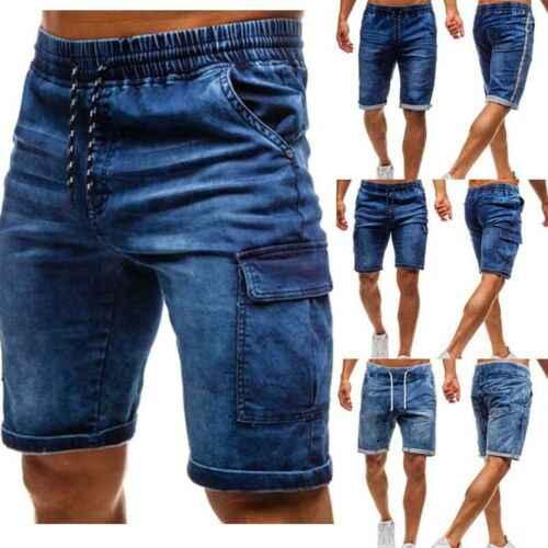 Pantalones Cortos Vaqueros Para Hombre Pantalones Cortos Vaqueros Rotos Pantalones Cortos Vaqueros Elasticos Deshilachados Pantalones Cortos Aliexpress