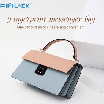 Fipilock FL-V5 Fingerprint Leather Handbags Smart Anti-theft Women Bag Casual Female Bags Shoulder Bag Ladies Large Bolsos