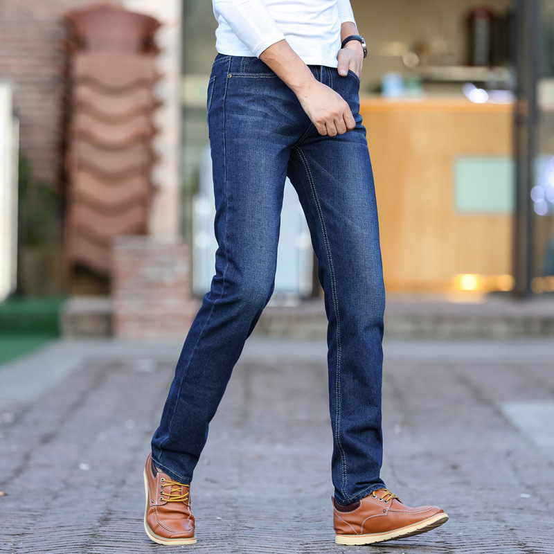 MEN'S Jeans Slim Fit Pencil Pants Spring And Autumn Men's Trousers Youth Business Large Size Work MEN'S Wear Long Pants