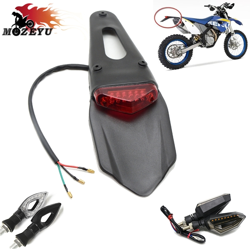 Motorcycle Fender LED Stop Rear Tail Light FOR <font><b>BETA</b></font> X-TRAINER Para <font><b>beta</b></font> <font><b>RR</b></font> 250/300 2T Para <font><b>beta</b></font> <font><b>RR</b></font> 350 390 <font><b>400</b></font> 430 450 498 4T image