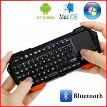 лучшая цена Portable Backlit Mini Wireless Bluetooth Keyboard Touchpad for iOS Android Windows