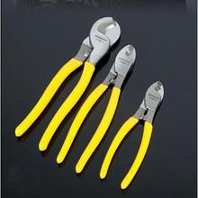 Cortador de cabo elétrico fio cabo de fio stripper alicate de corte ferramentas manuais multi função poderosa rede friso ferramenta