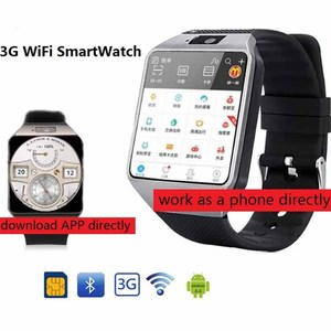Image 1 - 3G WIFI Smart Watch 4GB ROM Sport Facebook/Twitter/WhatsApp Internet QW09 Bluetooth Smartwatch 2.0 Camera Pedometer SIM Card