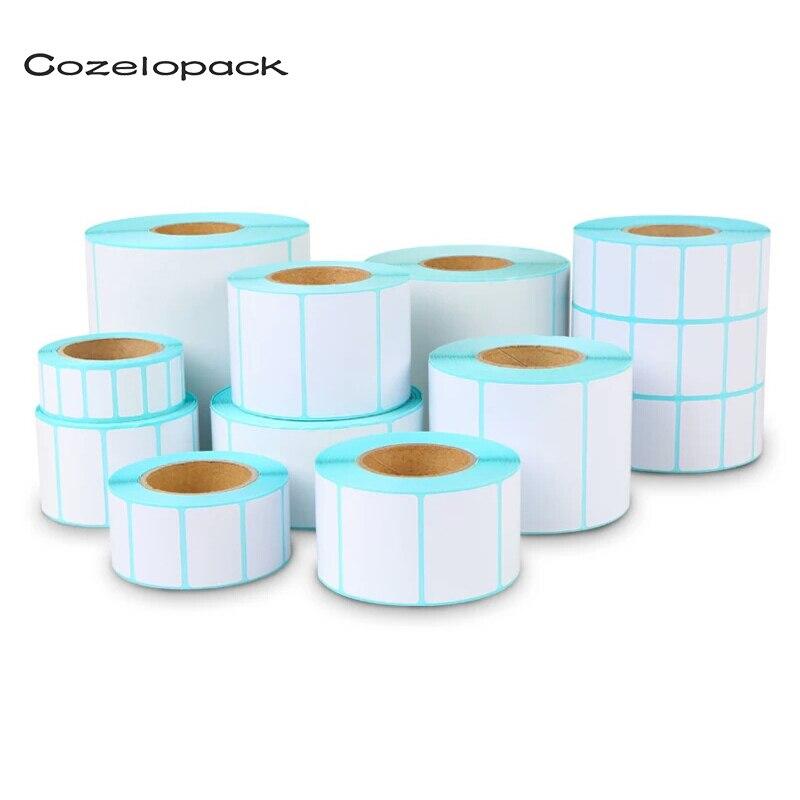 19 Sizes Label Stickers Barcode Sticker Label For Zebra Paper Adhesive Sticker Supermarket Blank Sticker