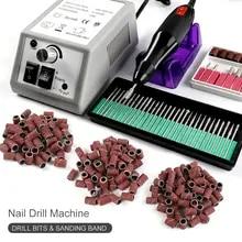 전문 전기 네일 드릴 머신 세트 네일 아트 파일 밀링 커터 매니큐어 네일 아트 펜 페디큐어 장비 네일 아트 도구