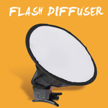 20cm Flash Diffuser Lightweight Easy Install Photo Home Accessories Softbox Portable Studio Round Photography For Canon(China)