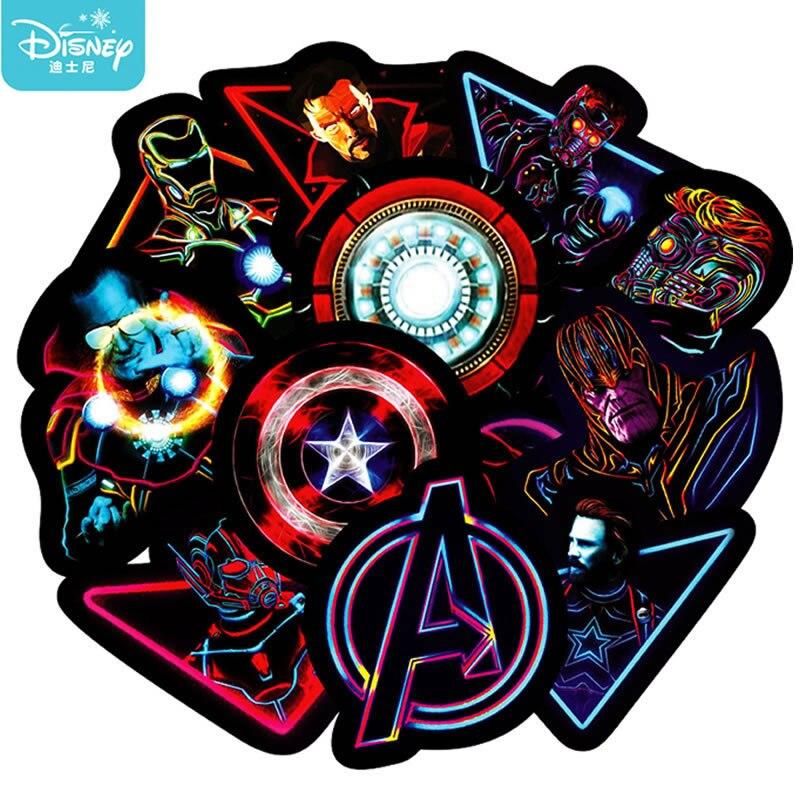 10/30PCS Disney Movie Hero Marvel Avengers Stickers Anime Waterproof Luggage Laptop Guitar Skateboard Moto Car Sticker Kids Toy
