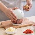 500 ml poderoso moedor de carne mão-potência chopper alimentos misturador liquidificador cozinha gadget manual carne moedor de legumes