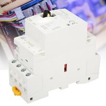 AC Contactor Manual-Control-Switch Din Rail Household 220V 25A 4P with 50hz