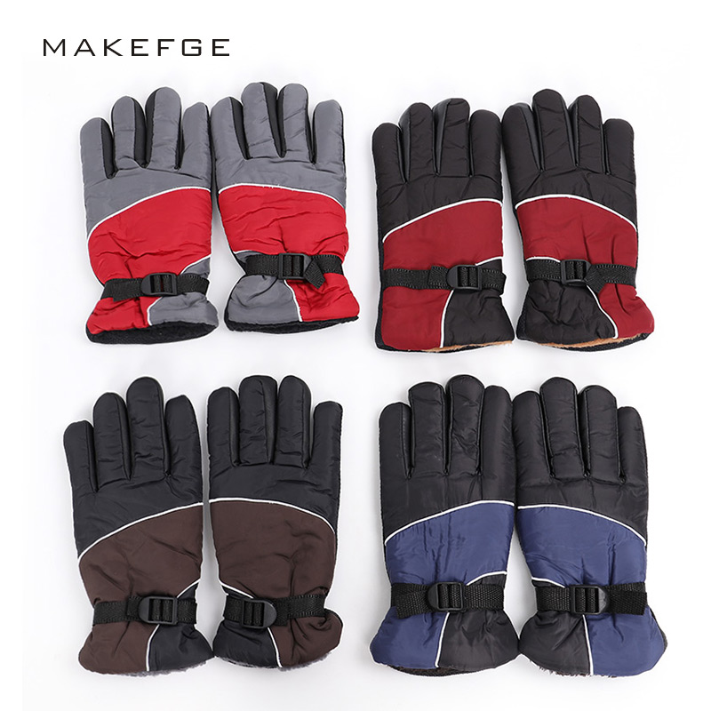 2019 Men's Winter Gloves Warm Non-slip Thickening Gloves Full Finger Size Adjustable Quality Waterproof Gloves Ski Outdoor Warm