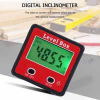 Waterproof Measure Bevel Box Goniometer Magnet 90 Degrees Gauge Ruler Digital Protractor Inclinometer Level Box Angle Finder