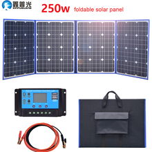 Flessibile Pannello Solare pieghevole 250w 12 v/18 v casa outdoor kit 200w caricabatteria portatile 5v usb per il telefono auto batteria di campeggio