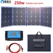 مرنة لوحة طاقة شمسية طوي Xinpuguang مرنة لوحة للطاقة الشمسية طوي 220 واط 12 فولت / 18 فولت المنزل في عدة 200 واط شاحن بطارية محمول 5 فولت usb للهاتف بطارية السيارة التخييم