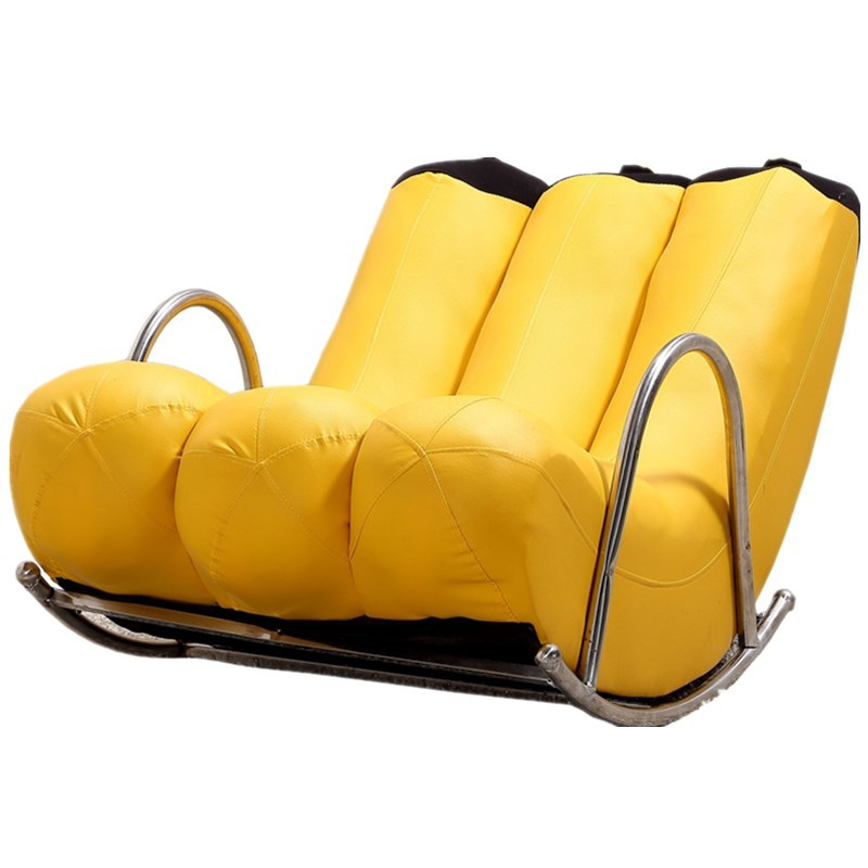 Creative Single Lazy Chaise Couch Banana Recliner Leather Shake Chair Personality Cute Bedroom Modern Small Apartment image