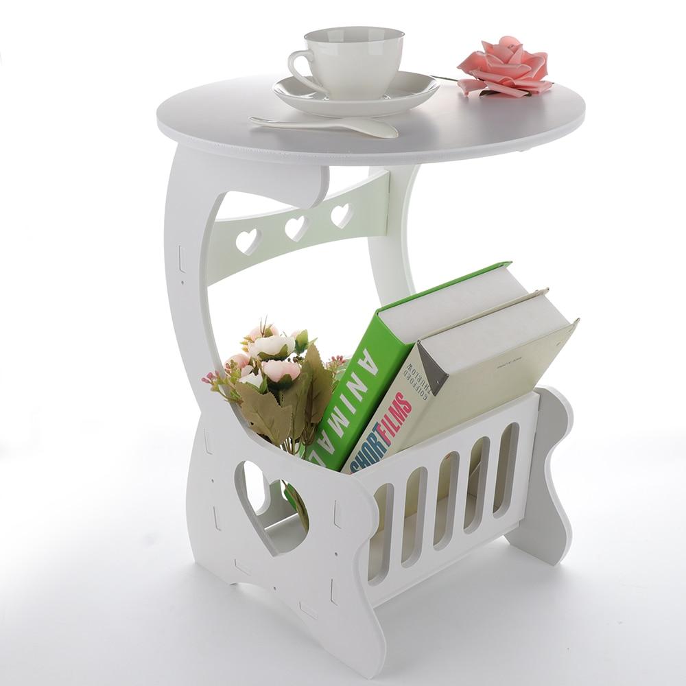 Image 5 - Estante de almacenamiento de madera multifunción, mesa de café, mesa de té, escritorio, almacenamiento de revistas, mesa, hueco tallado    -