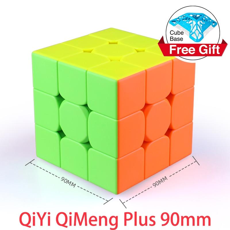 QiYi QiMeng Plus 3x3 90mm Stickerless Magic Cube Big 3x3x3speed cube 9cm antistress cubes Learning Educational Puzzle Cubes Toys 1