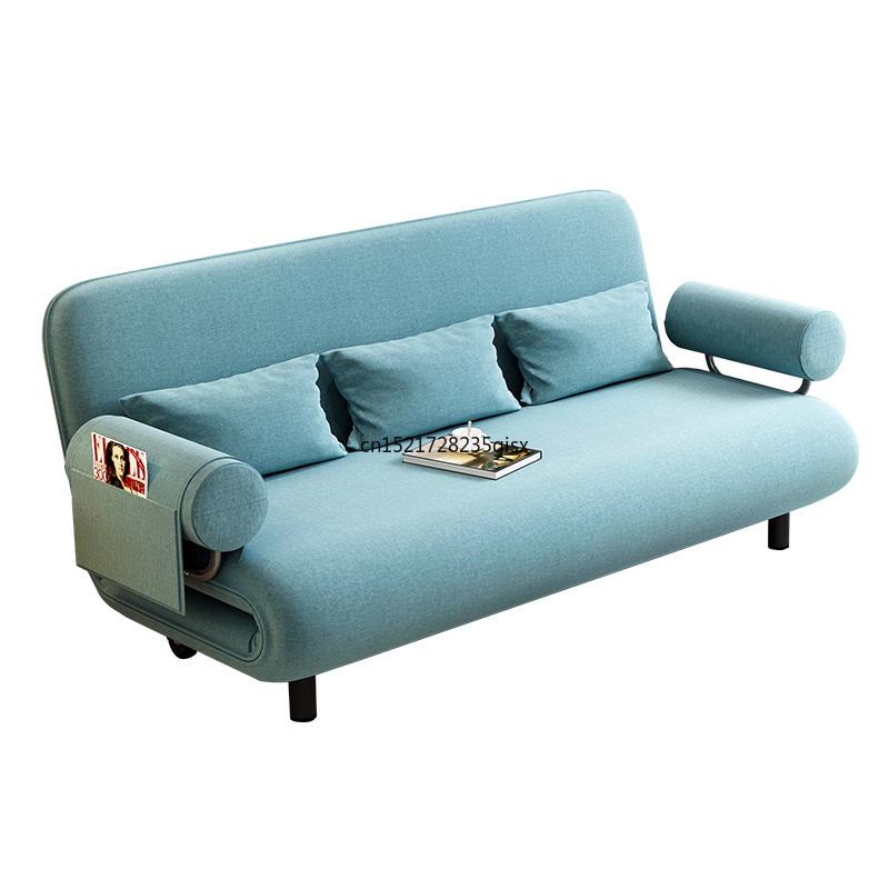 Folding sofa bed dual-use small apartment push-pull space multi-functional simple study living room sofa single luxury chair image