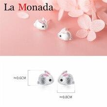 2019 Sweet Cute Animal Rabbit 925 Silver Stud Earrings for Women Baby Girls Fash