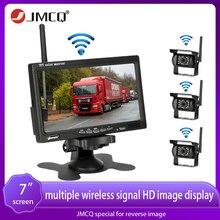 Monitor sem fio do carro da câmera do caminhão de jmcq 7 polegadas monitor hd 12v-24v para o caminhão do carro do ônibus cctv câmera traseira reversa do backup da vista do tempo