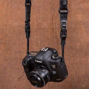 Image 3 - Vintage orijinal el yapımı hakiki deri basit kamera omuz askısı DSLR boyun bilek kayışı kemer için Canon/Nikon/Sony /panasonic