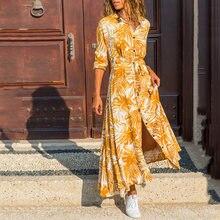 2020 Новое Осеннее модное платье с длинным рукавом женское повседневное