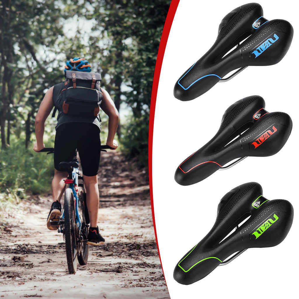 Bike Saddle Comfy Wide Extra Cushioned Bicycle Gel Seat Pad MTB Soft Shockproof