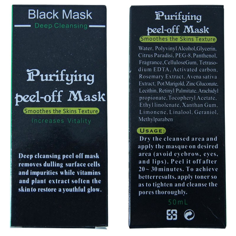 Blackhead Remove Masks Deep Cleansing Purifying Peel Off Facial Black Masks